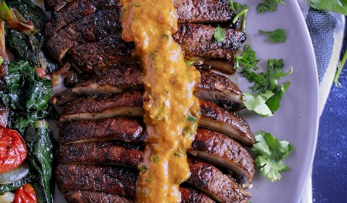 MARINATED & GRILLED MUSHROOMS W/ SPICY CURRY SAUCE